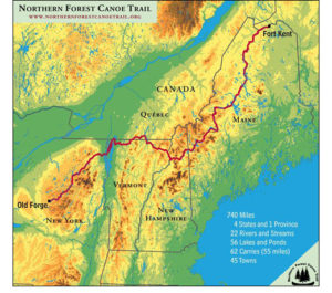 an outdoor trail map