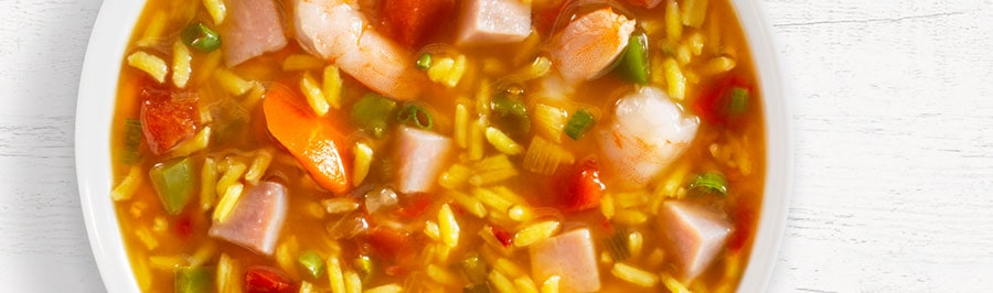 New Orleans Jambalaya Soup in bowl