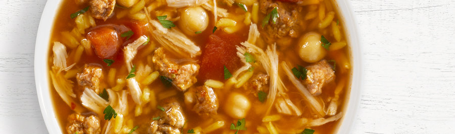 Jonny's Favorite Southwestern Chickpea Soup in bowl