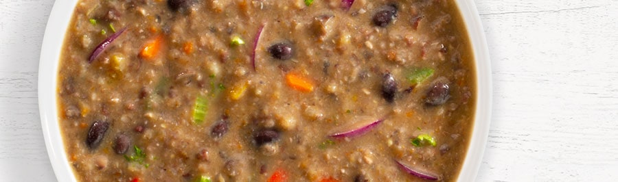 Texas Wrangler Black Bean Soup in bowl