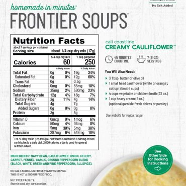 Cauliflower soup packaging