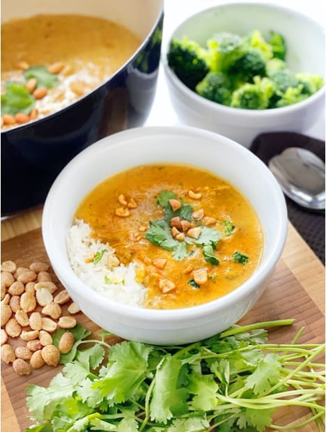 Golden Peanut Rama Chicken Soup